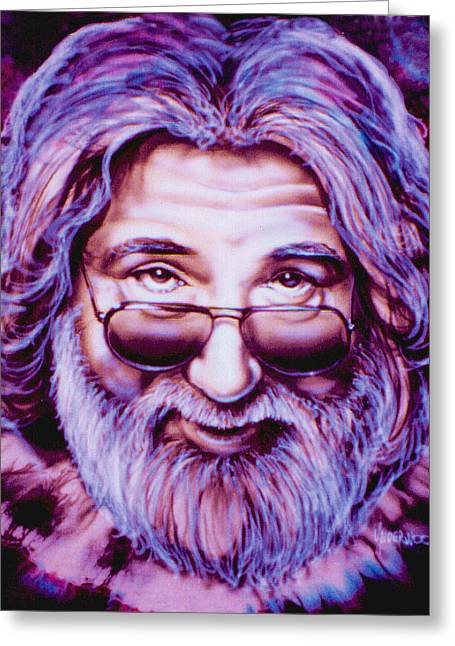 Jerry Garcia Greeting Card by Mike Underwood