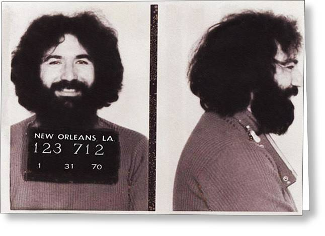 Jerry Garcia Mugshot Greeting Card