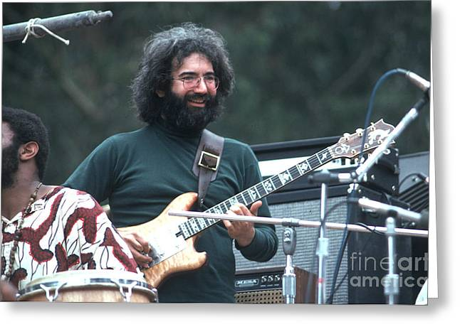 Jerry Garcia Greeting Card by Ron Draper