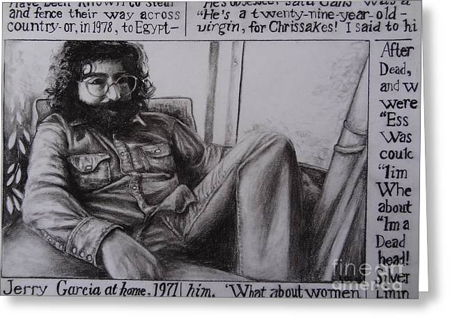 Jerry Garcia....taken From Rollingstone Interview 1972 Greeting Card