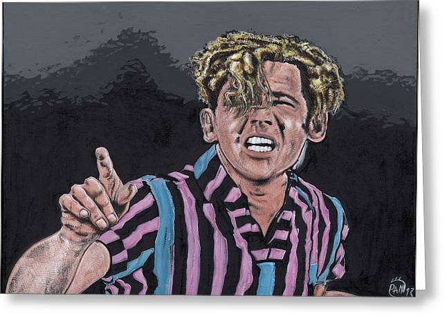 Jerry Lee Lewis  Greeting Card by Philip Appleyard