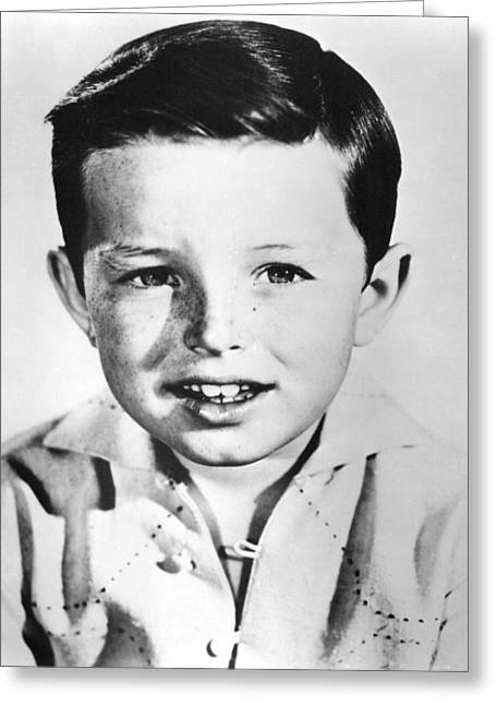 Jerry Mathers In Leave It To Beaver  Greeting Card by Silver Screen