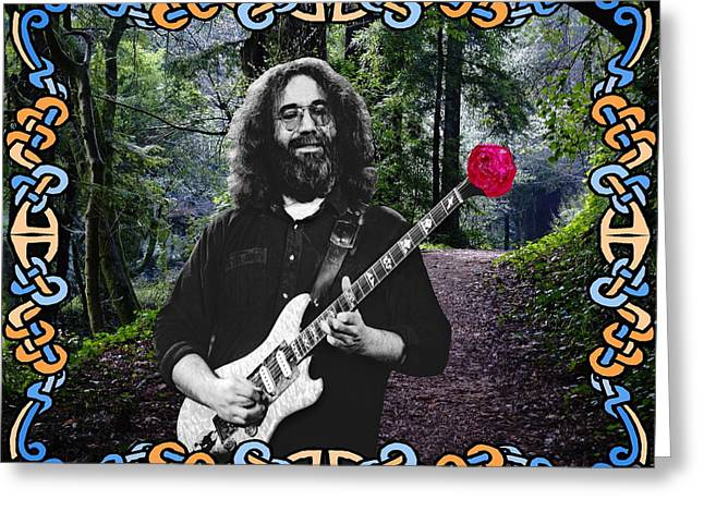 Jerry Road Rose 1 Greeting Card by Ben Upham