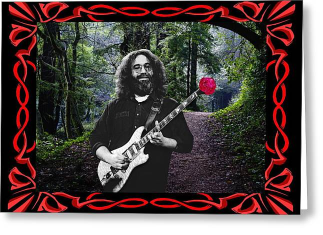 Greeting Card featuring the photograph Jerry Road Rose 2 by Ben Upham