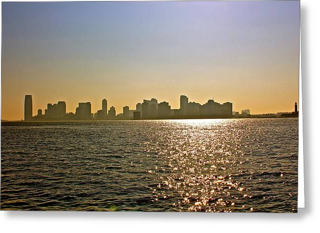 Jersey City From Nyc Greeting Card