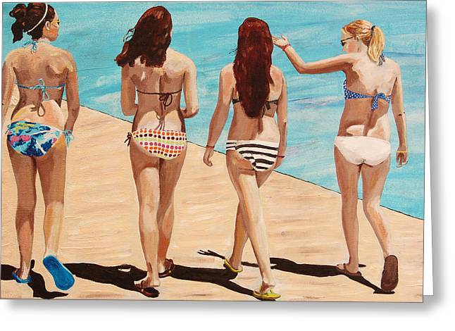 Jersey Girls Point Pleasant Greeting Card by Kevin Callahan