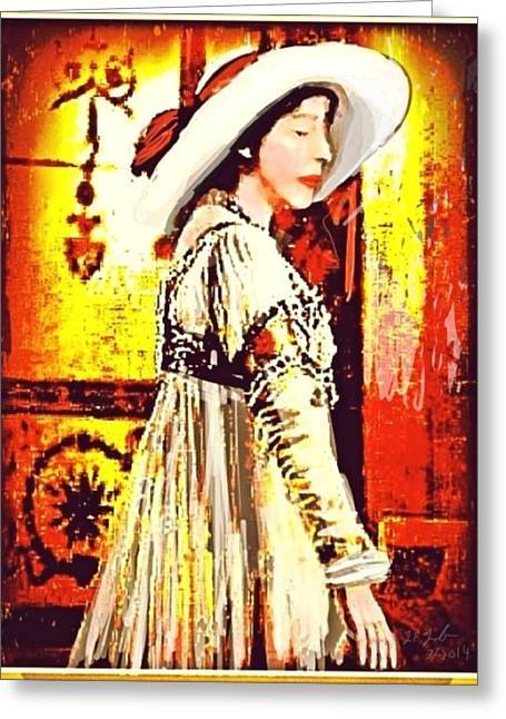 Jersey Lil Langtry Greeting Card