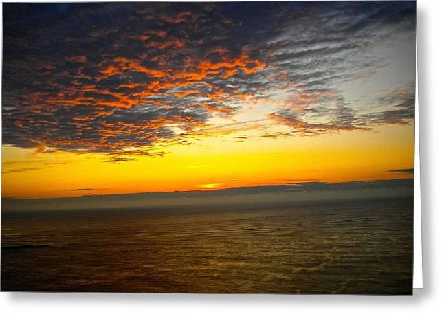 Jersey Morning Sky Greeting Card