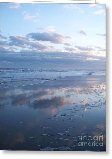 Jersey Shore Reflections Greeting Card by Eric  Schiabor