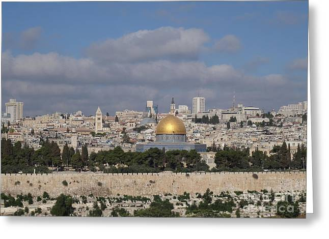 Jerusalem Old City Greeting Card