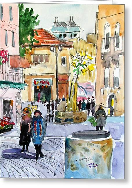 Jerusalem Street Scene Greeting Card