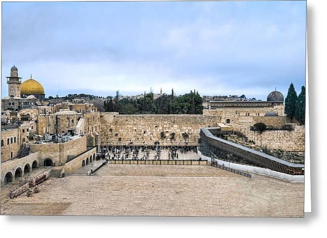 Jerusalem The Western Wall Greeting Card