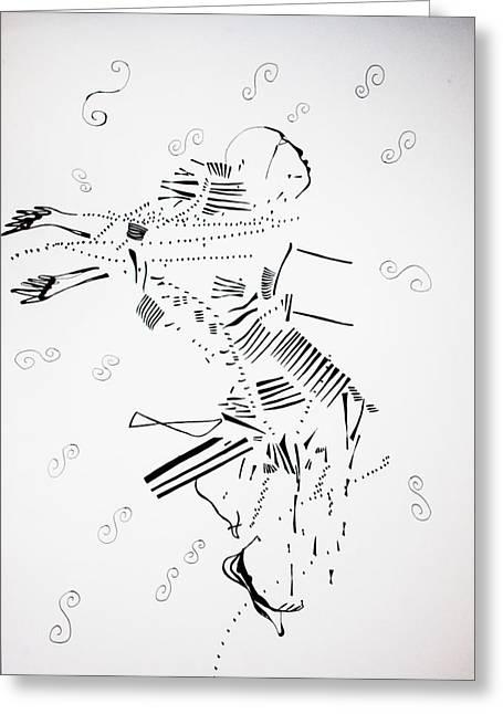 Jerusarema Or Mbende Dance - Zimbabwe Greeting Card by Gloria Ssali