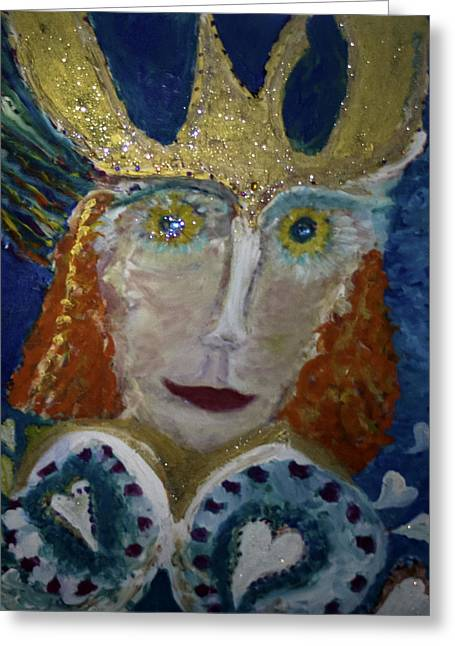 Jeshua Emperor Of Hearts Greeting Card by Joan Hangarter
