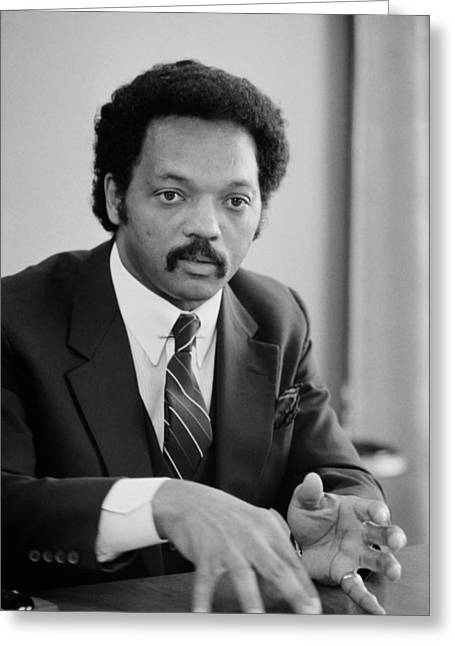 Jesse Jackson 1983 Greeting Card by Mountain Dreams