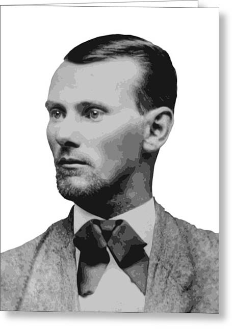 Jesse James Old West Legend Greeting Card by Daniel Hagerman
