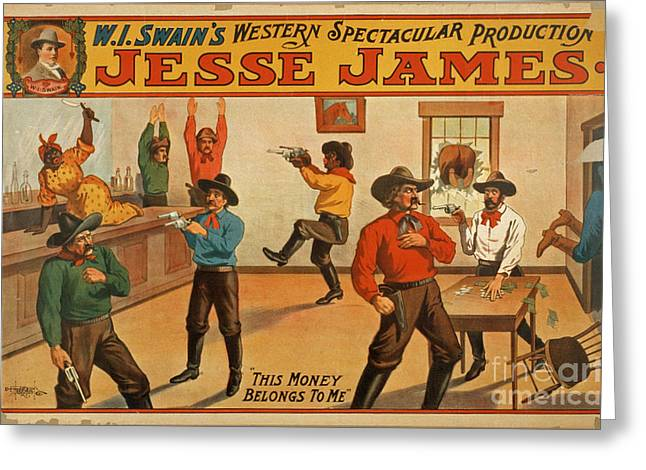 Jesse James Spectacular Production Poster Greeting Card