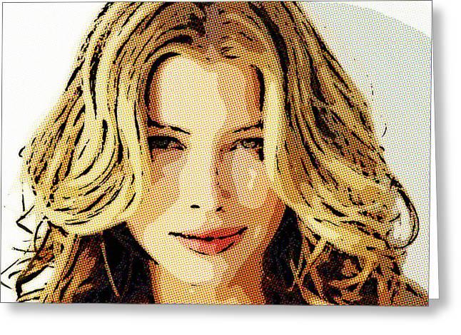 Jessica Biel 1 Greeting Card