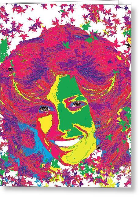 Jessica Biel Pop Art Greeting Card