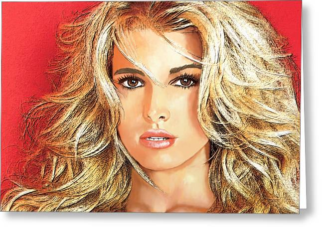 Jessica Simpson Greeting Card by GCannon