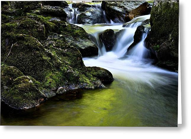 Jessup River Waterfall Photographic Art Greeting Card by Movie Poster Prints