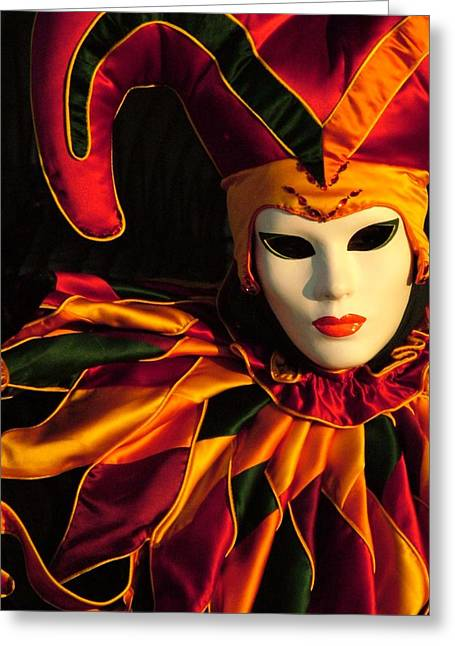 Jester At Sunrise Greeting Card by Donna Corless