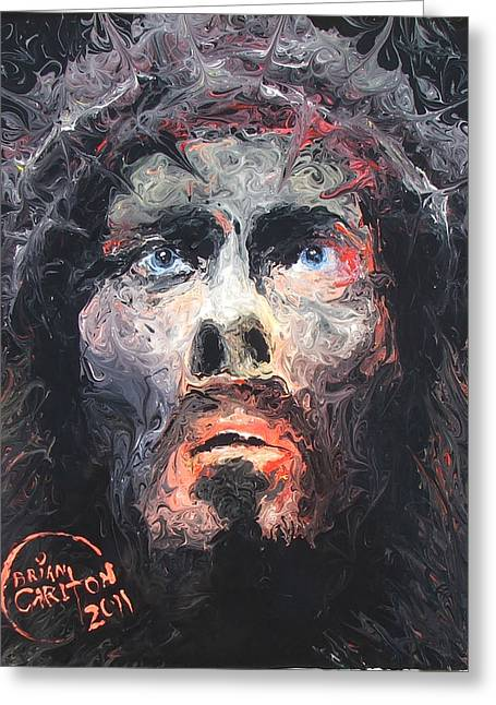 Jesus 002 Greeting Card by Brian Carlton