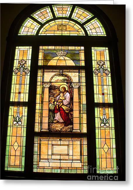 Jesus And Children Greeting Card by Robert Bales