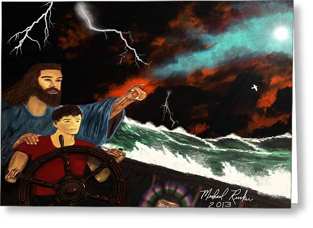 Jesus And The Sailor Greeting Card