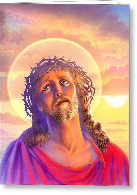 Jesus Greeting Card by Andrew Farley