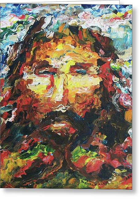 Jesus Are You There Greeting Card by Suzanne  Marie Leclair