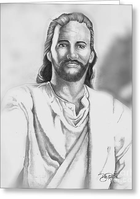 Jesus Greeting Card by Bill Richards