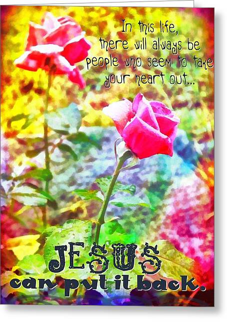 Jesus Can Put It Back Greeting Card