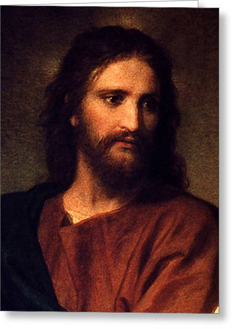 Jesus Christ Greeting Card by Heinrich Hofmann