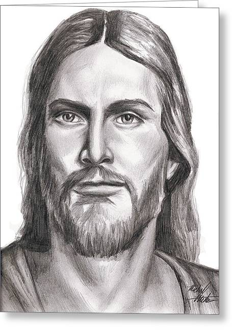Jesus Christ Greeting Card by Michael Mestas