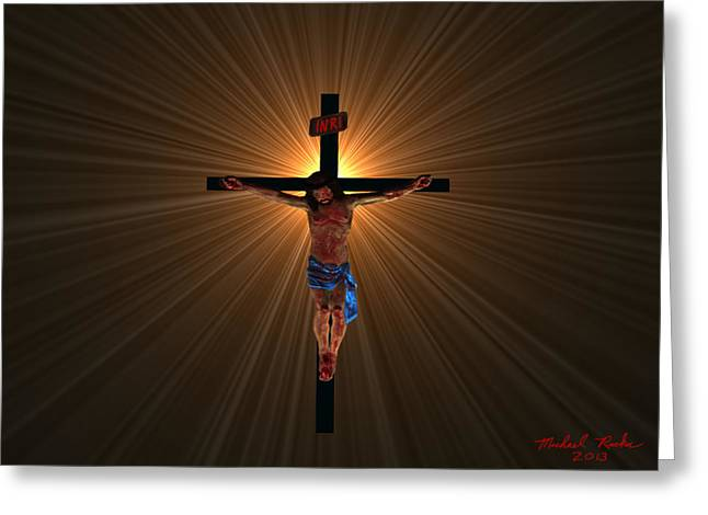 Jesus Christ Greeting Card by Michael Rucker