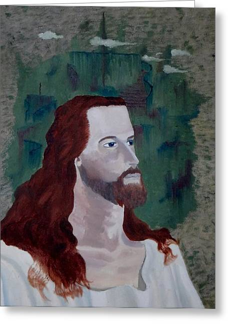Jesus Christ Greeting Card by Susan Roberts