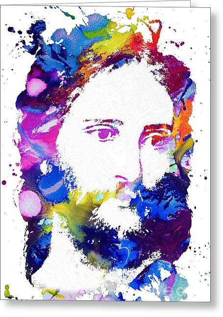 Jesus Christ - Watercolor Greeting Card by Doc Braham