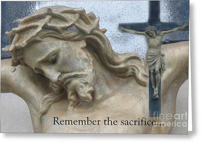Jesus - Christian Art - Religious Statue Of Jesus Greeting Card