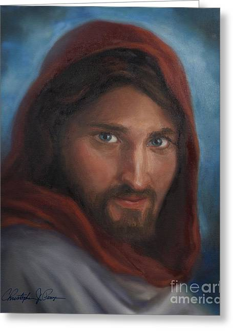 Jesus Greeting Card by Christopher Panza