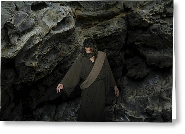Jesus- He Cried With A Loud Voice Lazarus Come Forth Greeting Card