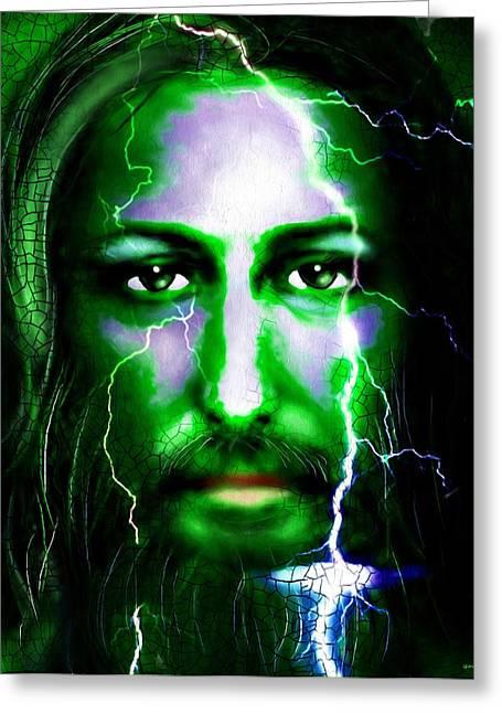 Jesus In The Storm Greeting Card by Daniel Janda