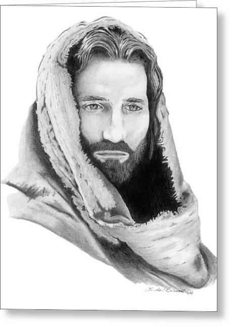 Jesus Greeting Card by Linda Bissett