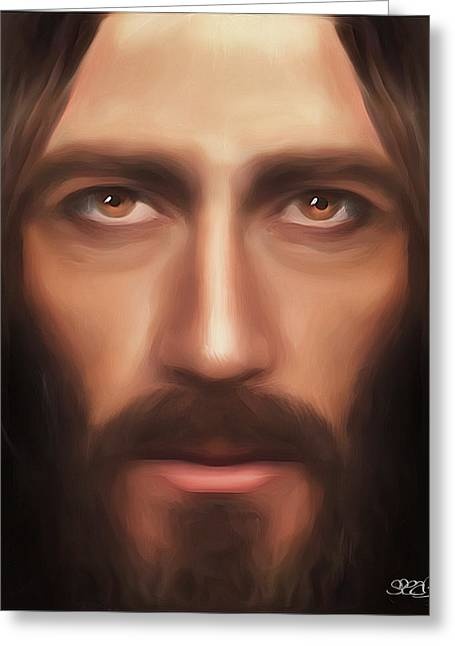 My Jesus Greeting Card by Mark Spears
