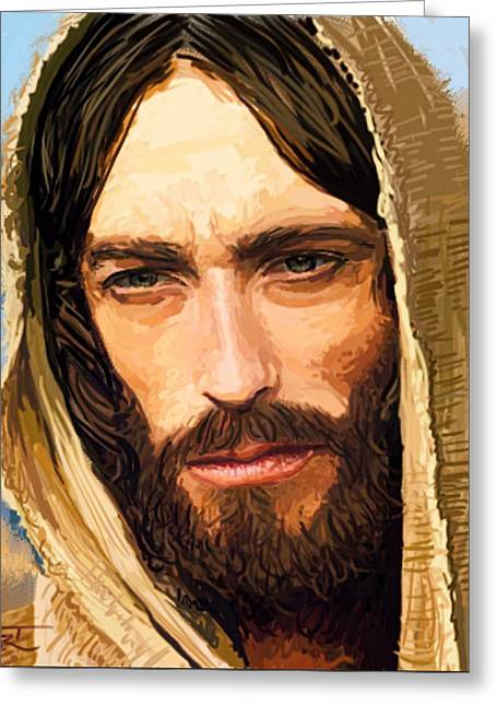 Jesus Of Nazareth Portrait Greeting Card