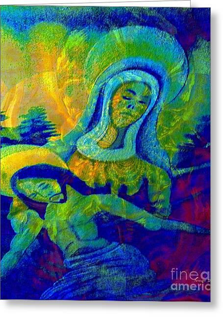 Jesus Paid It All Greeting Card by Fania Simon