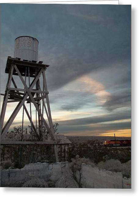 Jesus Saves Watertower - Route 66 Greeting Card by Glenn McCarthy Art and Photography