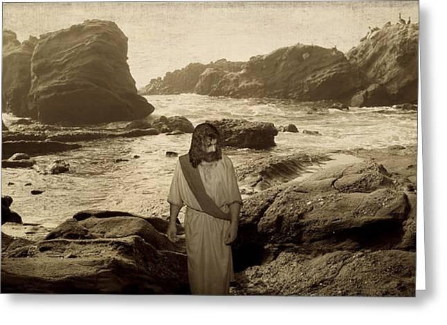 Jesus Walks Among Angels Greeting Card