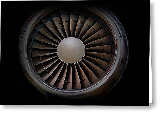 Jet Engine Digital Art Print Greeting Card by Movie Poster Prints