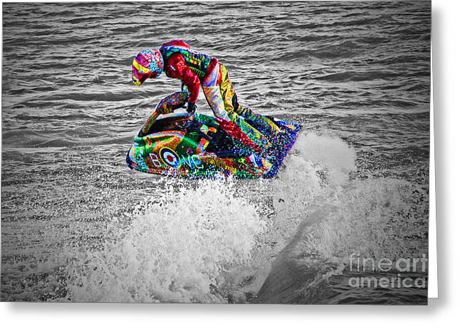 Jet Ski Greeting Card by Terri Waters